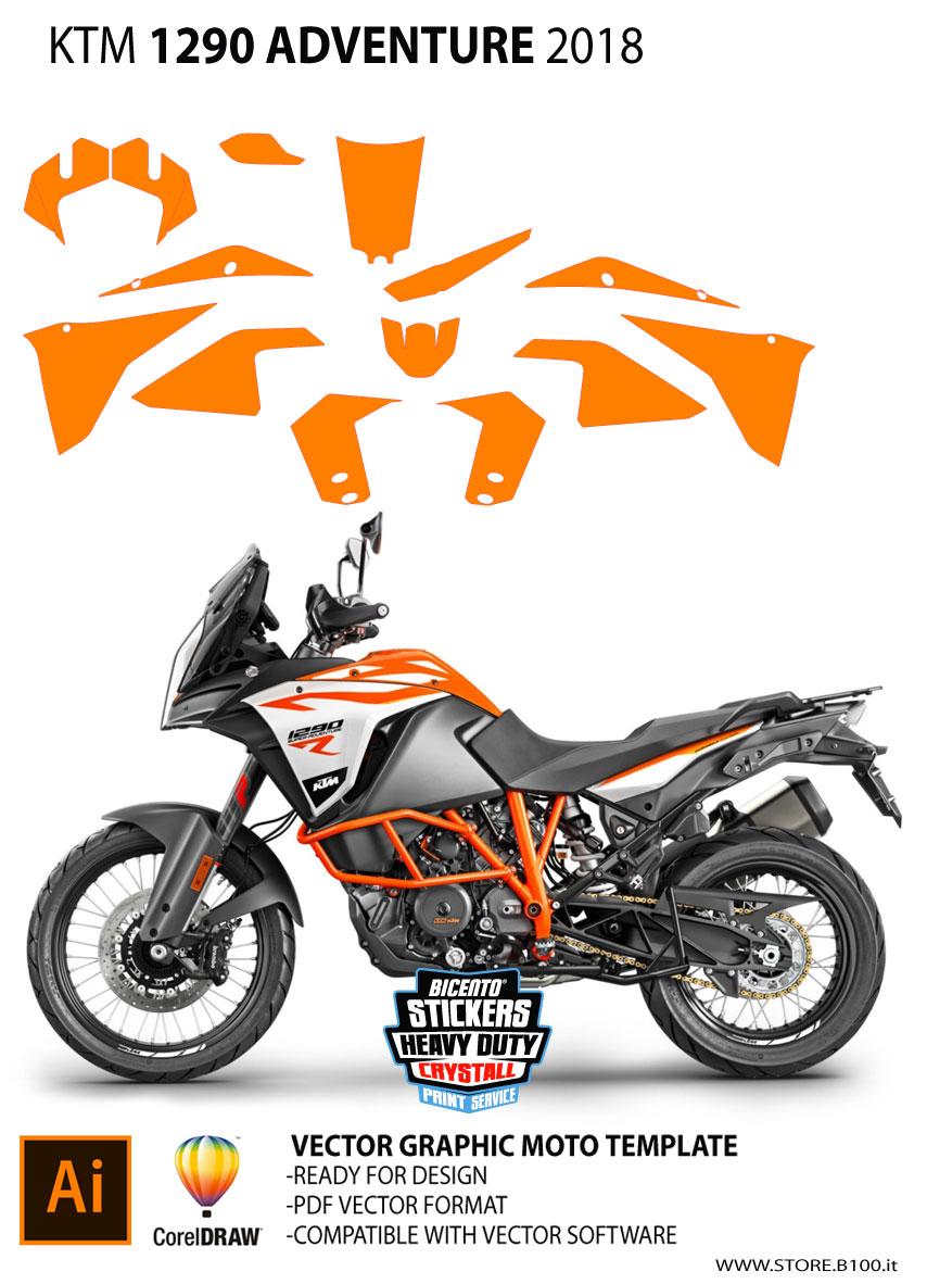 Graphics template KTM 1290 adventure 2018-2019 Vector template KTM 1290  adventure 2018-2019