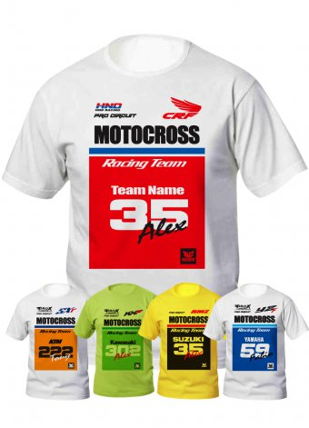Tshirt motocross team
