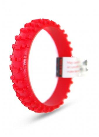 Bracciale silicone copertone mx rosso