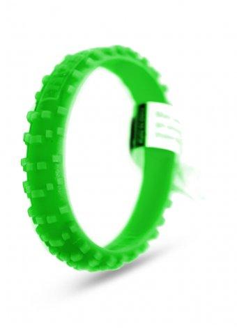 Bracciale silicone copertone mx verde