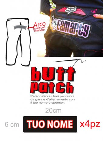 Patch in crystall per pantaloni