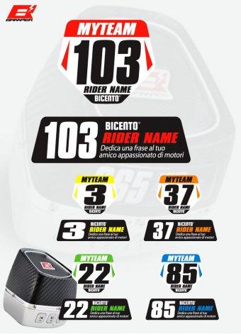 Stickers MXGP resinato per Braaper