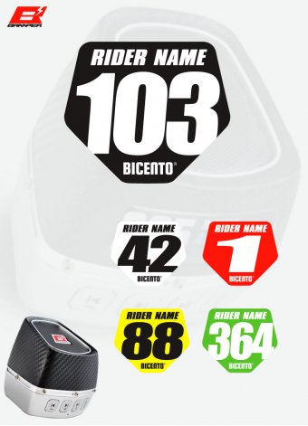 Stickers Supercross resinato per Braaper