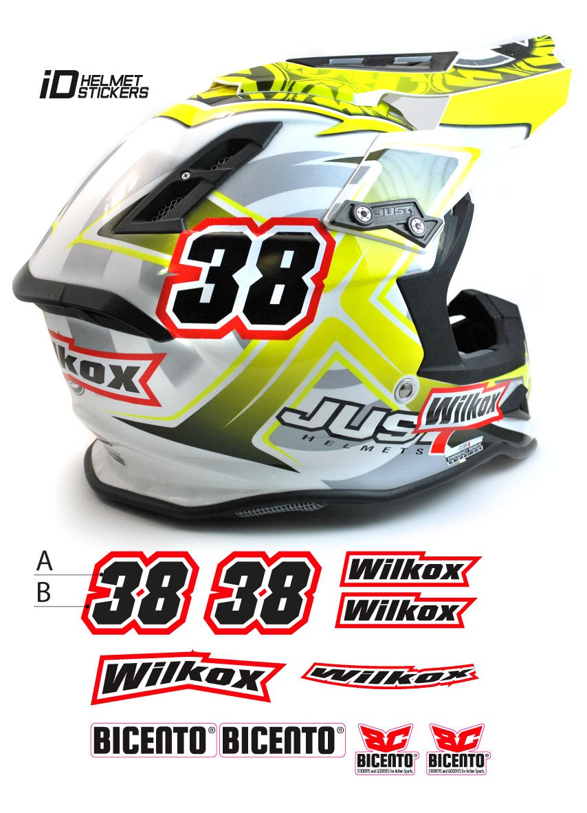 Name id helmet stickers helmet stickers b100 it store grafica personalizzazione e stampa digitale