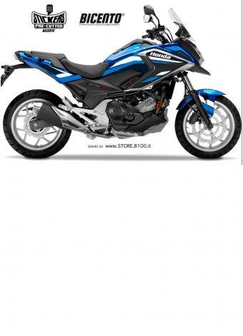 Grafica hrc bianca-azzurra per Honda NCX750