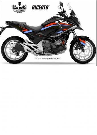 Grafica hrc rosso-azzurro per Honda NCX750