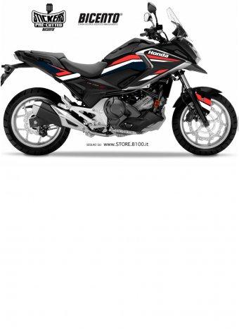 Grafica hrc rosso-bianco per Honda NCX750