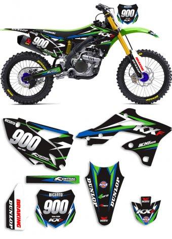Grafica Simple black Kawasaki