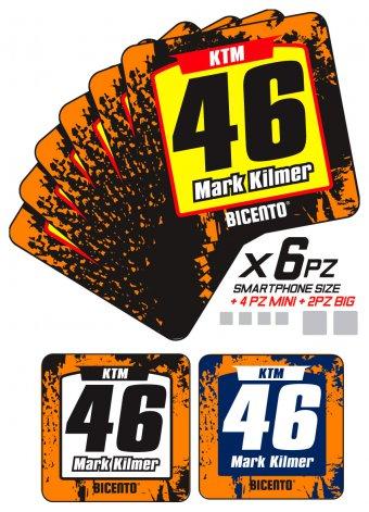 Mini stickers ktm