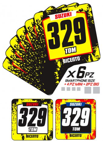 Mini stickers suzuki