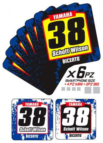 Mini stickers yamaha