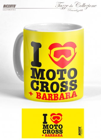 Tazza Love motocross giallo