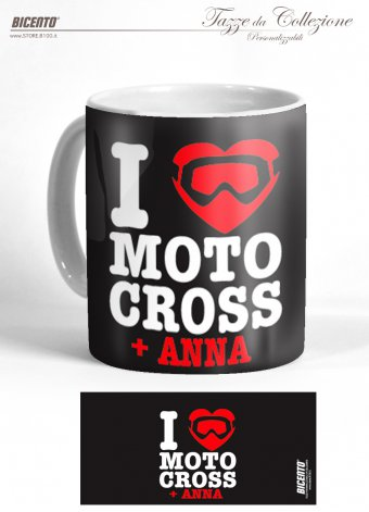 Tazza Love motocross nero