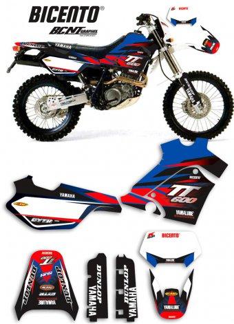 Grafica Yamaha TT600E 2000 Lain blu