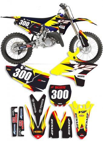 Grafica Lain giallo Yamaha