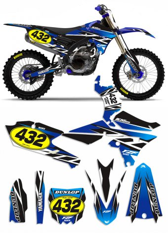 Grafica Trofeo blu Yamaha