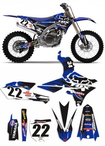 Grafica Vector blu Yamaha