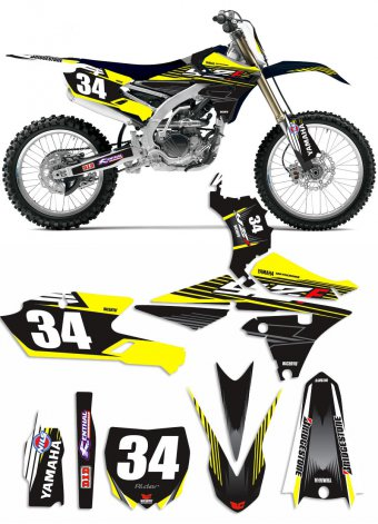 Grafica Winmix gialla Yamaha