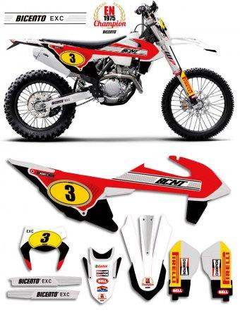 Grafica per KTM EXC 2020 Retro 75 rossa