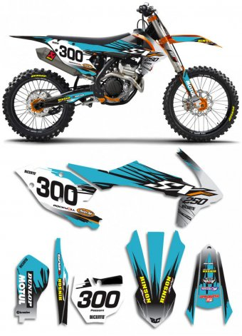 Grafica Vector turchese Ktm