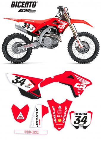 Grafica Honda back88