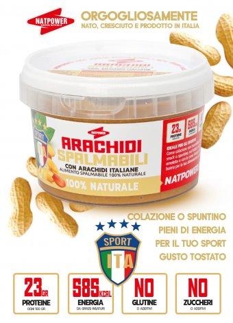 Burro di arachidi Natpower naturale 100% 280 gr
