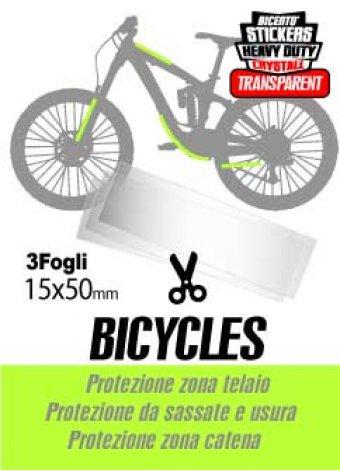 3 strisce adesive trasparenti in crystall per bici