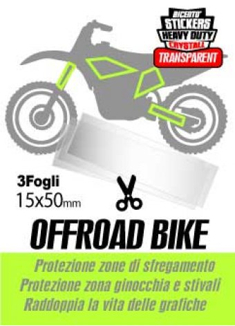 3 strisce adesive trasparenti in crystall offroad