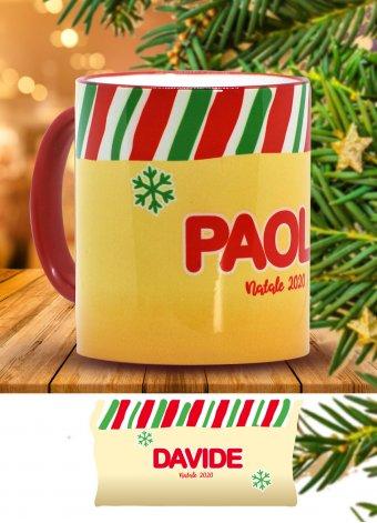 Tazza di Natale gialla
