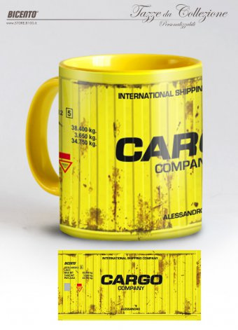 Tazza cargo container giallo