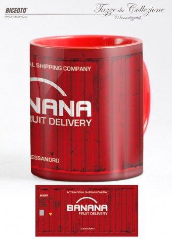 Tazza cargo container rosso