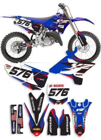 Grafica Lain blu Yamaha