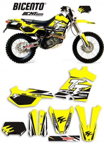 Grafica Yamaha TT600E 2000 Trofeo gialla