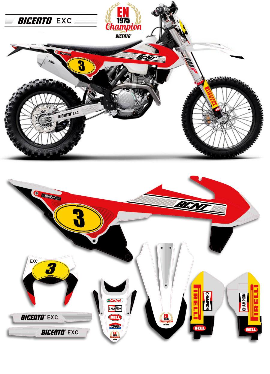 Grafica Per Ktm Exc 2020 Retro 75 Rossa Ktm Motocross Enduro B100 It Store Grafica Personalizzazione E Stampa Digitale