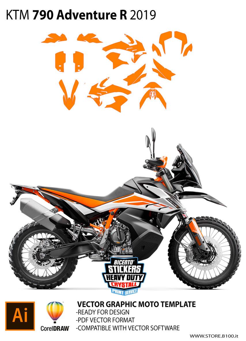 Graphics Template Ktm 790 Adventure R 2019 Ktm Adventure